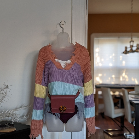 Mod Sweaters - Loose Knitted Crop Sweater